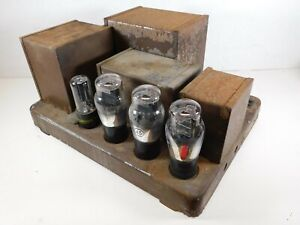 Vtg RCA Victor Type 245 Mono Triode Amplifier w/ Tubes f/ Field Coil Speaker