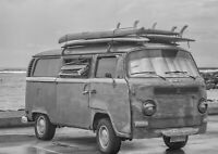 A1| Surf Van Poster Art Print Size 60 x 90cm Vintage Vehicle Decor Gift #14166