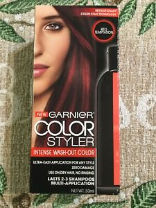 1X New Garnier Color Styler Intense Wash-Out Hair Color Red Temptation