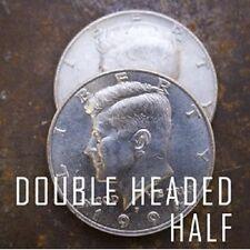 Double Side Fake Coin Half Dollar Magic 2 Sides Head magicin Prop Fee Shipping.