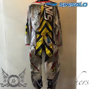 SINISALO KIDS CHILDS CAUTION MX MOTO-X OFFROAD BIKE MOTO-X JERSEY + TROUSER SET