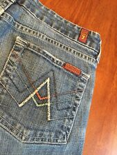 "7 For All Mankind Women's Slim Flare ""A"" Pocket Jeans Size 28"