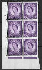 3d Wilding Violet 9.5mm Phosphor CB cyl 78 Dot perf A(E/I) UNMOUNTED MINT