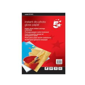 Glossy Paper 5 Star Office Photo Inkjet Paper Gloss 240gsm A4 White [50 Sheets]