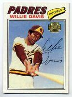 1977 Topps WILLIE DAVIS Baseball Card 603 San Diego Padres 2001 Archives REPRINT