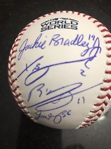 2018 Boston Red Sox Team Autographed Signed World Series Baseball