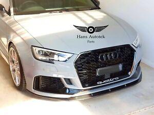 HansTek Design Carbon Fiber Front Lip FOR FL AUDI RS3 8V SEDAN HATCHBACK (17-20)