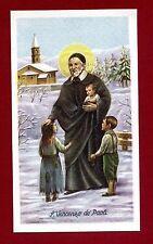 SANTINO S VINCENZO DE PAOLI  IMAGE PIEUSE - HOLY CARD-  Heiligenbild