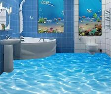3D Sea Water Ripples Wear Non-slip Floor Sticker Removable Mural Room Decor