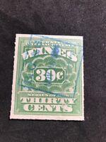 us stamps scott RE43 Blue Cancel Wine Revenue 1916 Lot 3