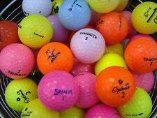50 MIXED COLOURED GOLF BALLS IN MINT/A GRADE CONDITION