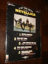 5 OF THE BEST FOR GUITAR - Metallica Vol. 2 - Songbook Tablatures