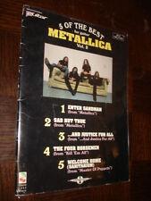5 OF THE BEST FOR GUITAR - Metallica Vol. 2 - Songbook Tablatures