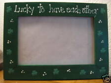 ST PATRICKS DAY - Lucky to have each other -   wedding love photo picture frame