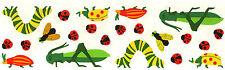 Mrs. Grossman's Stickers - Bugs with Grasshopper - Ladybugs - 4 Strips