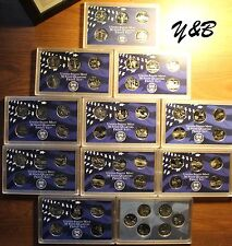 1999 - 2008 2009 Complete 50 State + 6 2009 Territory Proof Quarter 56 coin Set