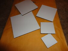 Plastic Templates -5 sizes squares for quilts