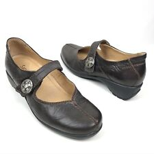 Sanita Women's Trude Mary Jane Shoes Size 39 - Brown Leather