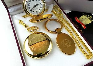 WIGAN CASINO 24K Gold Pocket Watch & Logo Keyring Northern Soul Limited Edition