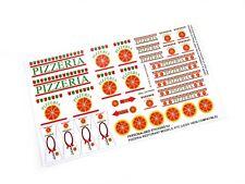 CUSTOM STICKERS for Pizzeria Restaurant , Lego 6350 , custom builds ,Etc
