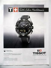 PUBLICITE-ADVERTISING :  TISSOT T-Touch Expert Solar (01)  2015 Montres