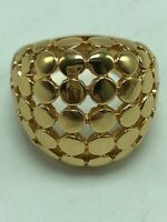Park Lane Knockout Ring Caviar Motif Gold Tone New Without Tag Size 8
