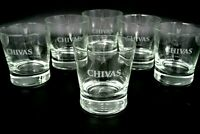6x Chivas Regal Tumbler Set 2/4cl Whisky Whiskey Glas Gläser Bar Deko Logo Neu