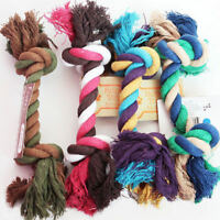 Pet Chew Bite Toy Knot Funny Powerful Puppy Pet Tug Of War Play Cotton Rope Toy