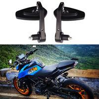 "Motorcycle Black 7/8"" Handle Bar End Side Mirrors For KTM Duke 390 Ducati 996 S"