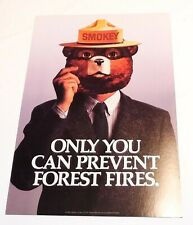 """Vintage USDA SMOKEY THE BEAR """"only you can prevent forest fires"""" Fire  Print pos"""