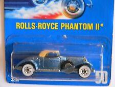 VERY RARE-ROLLS-ROYCE PHANTON2-BLUE CARD-#50-HOT WHEELS-ORIGINAL-VHTF-COLLECTORS