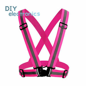 Safety Reflective Vest Night Running Cycling Adjustable High Visibility Belt US