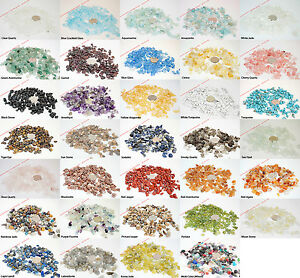 20 GRAMS 4-10mm Gemstone Chip Nugget Rondelle Loose Beads BirthStone Mixed Gift