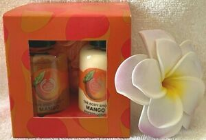 The Body Shop***MANGO***Shower Boxed Set with Bath Lily~~~Travel Sizes~~~NEW