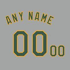 Béisbol Oakland Athletics Road Gris Camiseta Personalizado Número De Kit sin costura