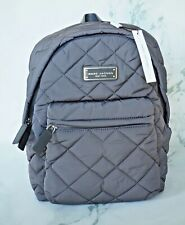 Marc Jacobs New York Quilted Nylon Backpack Gray Color New Tags 100% Authentic