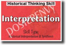 Historical Interpretation - New Social Studies Poster