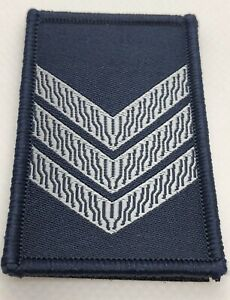 Rank Woven Patch #4, Dark Blue, Grey Text, Police, NOT official VIC, Hook Rear