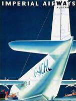 AIRWAYS AIRPLANE AEROPLANE TRANSPORT AUSTRALIA VINTAGE POSTER ART 985PY