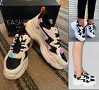 FashionNova Gotta Be on the Run Sneaker Chunky Platform NWOB Black Metallic 9W