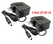 2 Pack 12V 2A 1mp Surveillance Camera Power Supply For Night Owl 2 Volt Dc 2 A