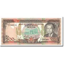 [#561475] Mauritius, 500 Rupees, 1988, KM:40b, UNC(60-62)