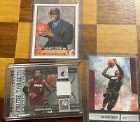 LOT Dwayne Wade 03-04 Topps Draft Pick #5 Rookie RC / Prime Target Elite #5/199