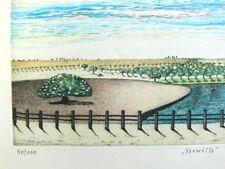 Grafik Lithografie Landschaft signiert Maluch  B08