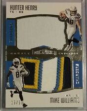 2017 Plates & Patches Double Coverage HUNTER HENRY MIKE WILLIAMS RC Patches /50