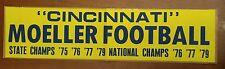 vintage unused bumper sticker Cincinnati Moeller Football