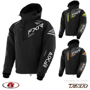 New 2021 FXR Renegade Men's Snowmobile Jacket Black/HiVis/Orange M L XL 2XL