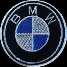 BMW CAR BIKE RACING IRON ON EMBROIDERED PATCH 8cm DIAMETER VEST