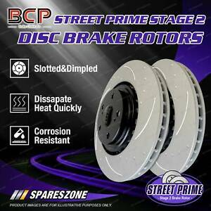 Front BCP Slotted Disc Brake Rotors for Citroen CX 2000 2200 2400 2500iE 74-85