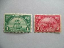 Scott # 614 & #615 Huguenot-Walloon 1 Cent & 2 Cent Stamps - Mint Hinged